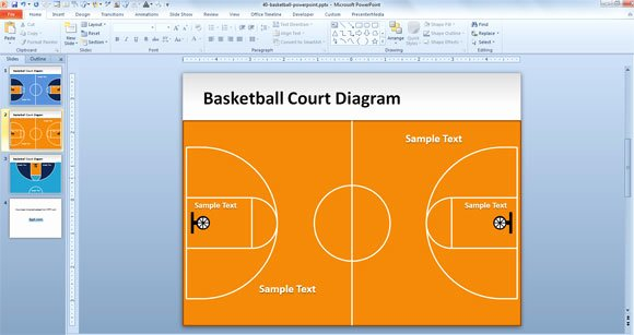 Basketball Court Design Template New Free Basketball Court Powerpoint Template