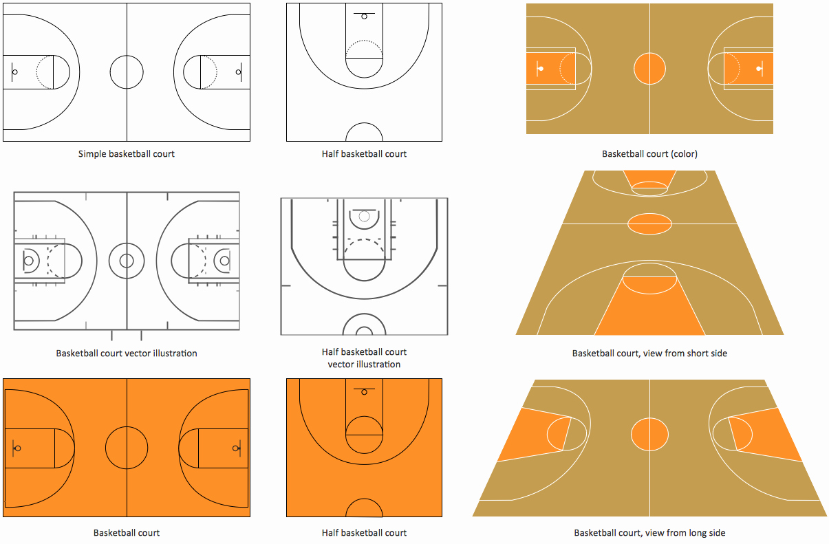 Basketball Court Design Template Unique Basketball Court Dimensions