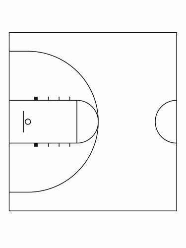 Basketball Court Design Template Unique Best S Of Half Court Basketball Diagram Dimension