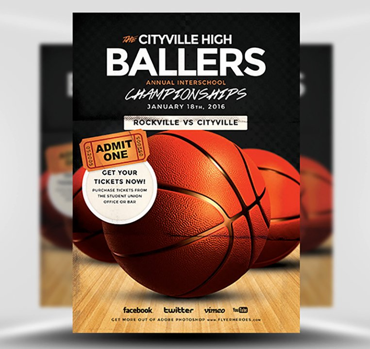 Basketball Flyer Template Free Awesome Basketball Flyer Template Flyerheroes