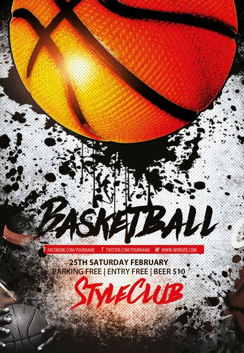 Basketball Flyer Template Free Beautiful Basketball Free Sport Flyer Template Download Flyer