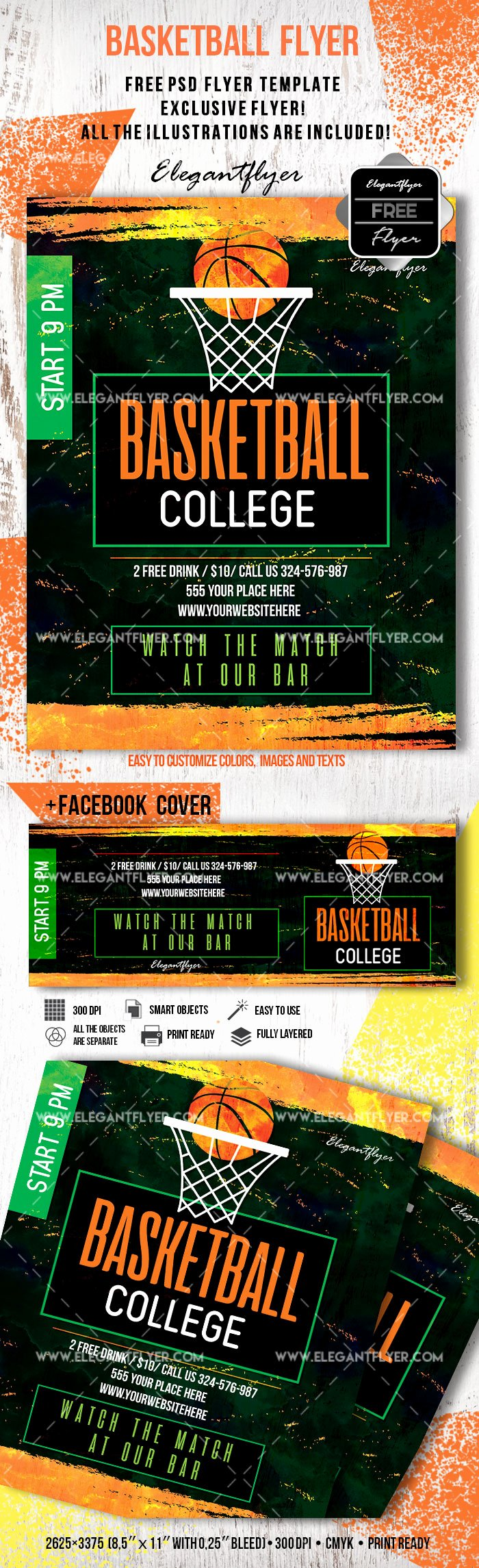 Basketball Flyer Template Free Beautiful Free Basketball Flyer Template – by Elegantflyer