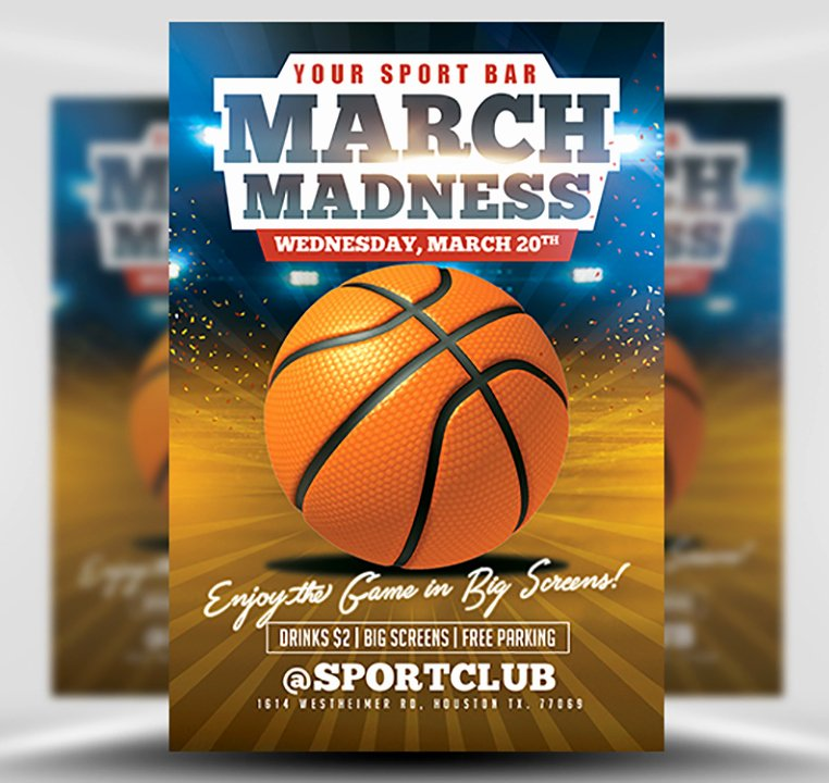 Basketball Flyer Template Free Best Of March Madness Basketball Flyer Template Flyerheroes
