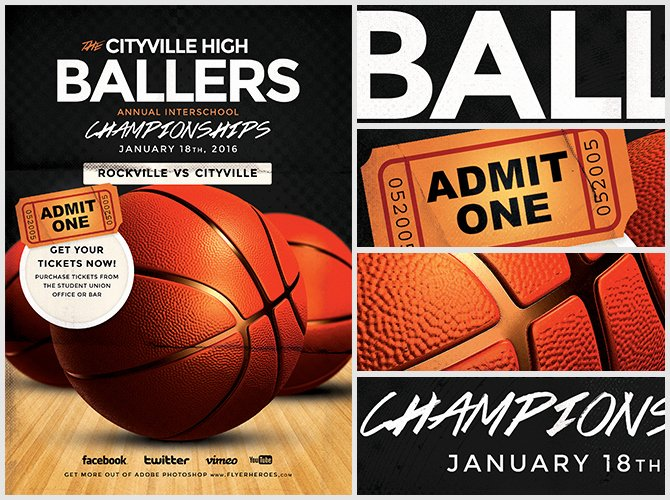 Basketball Flyer Template Free Elegant Basketball Flyer Template Flyerheroes