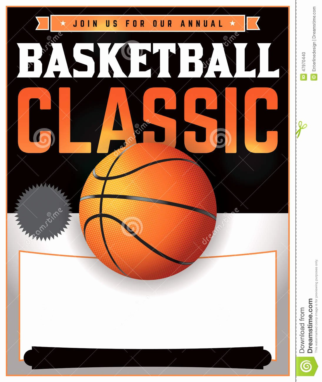 Basketball Flyer Template Free Inspirational Basketball tournament Illustration Stock Illustration