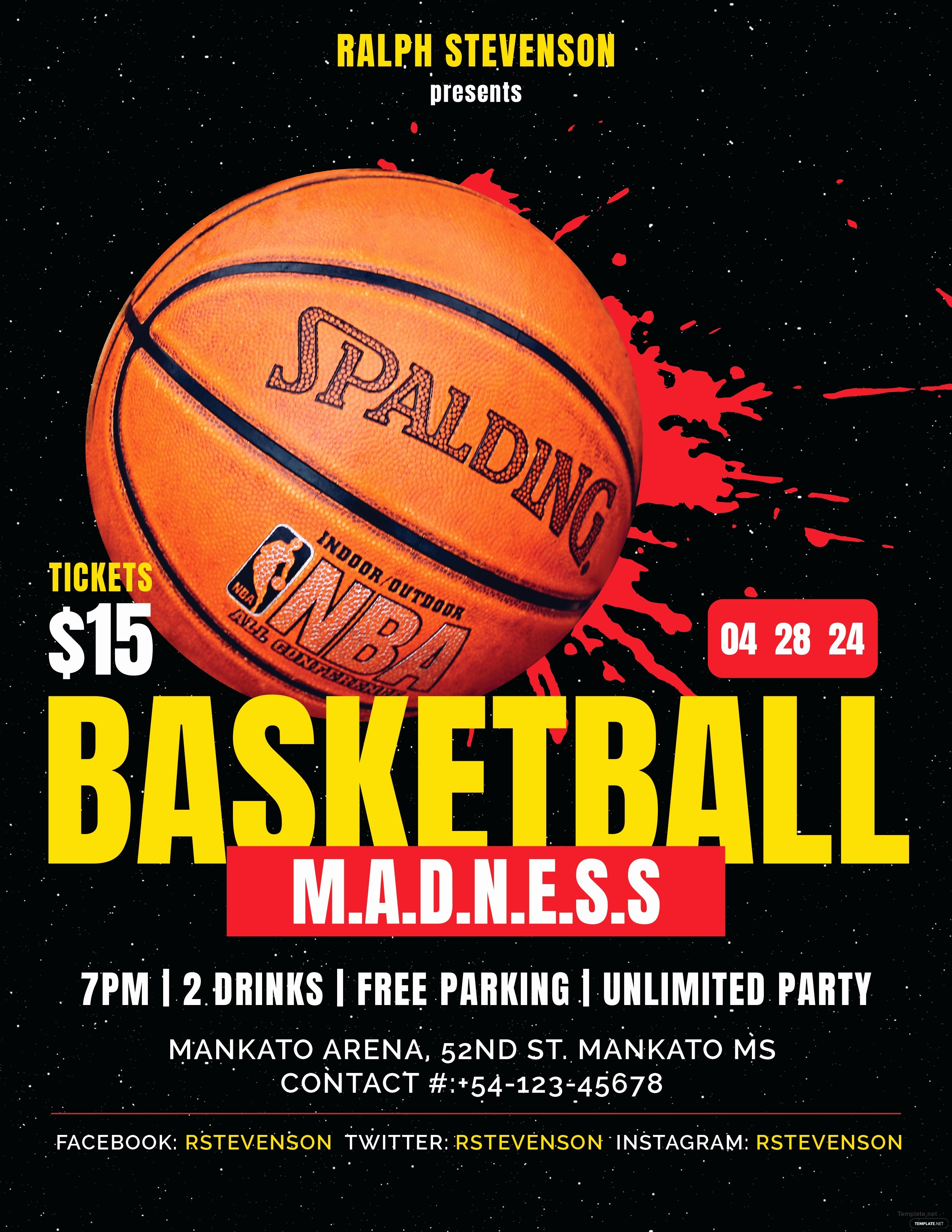 Basketball Flyer Template Free Luxury Free Basketball Madness Flyer Template In Adobe Shop