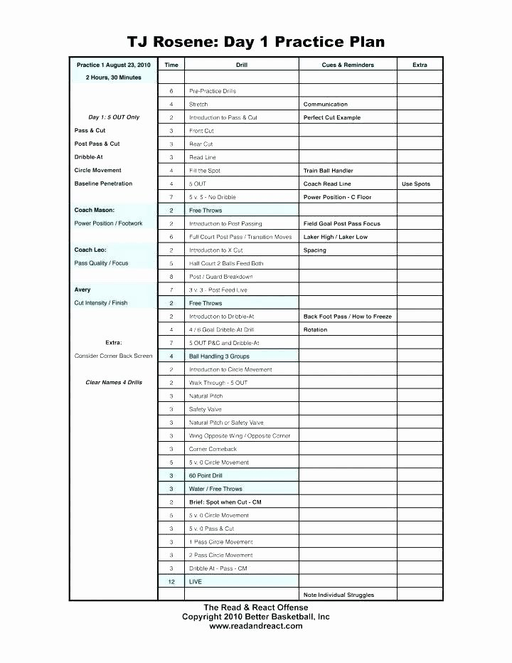 Basketball Practice Plan Template Best Of 97 Blank Basketball Practice Plan Template for Drawing
