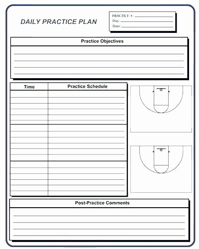Basketball Practice Plan Template Best Of Master Basketball Practice Plan Template Editable Practice