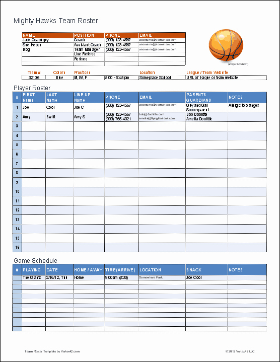 Basketball Practice Plan Template Luxury Create A Printable Basketball Roster with This Excel