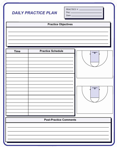 Basketball Practice Plans Template Inspirational Basketball Coaching forms