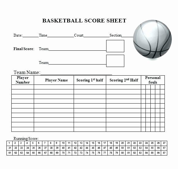 Basketball Score Sheet Template Unique 15 Printable Basketball Scoresheet