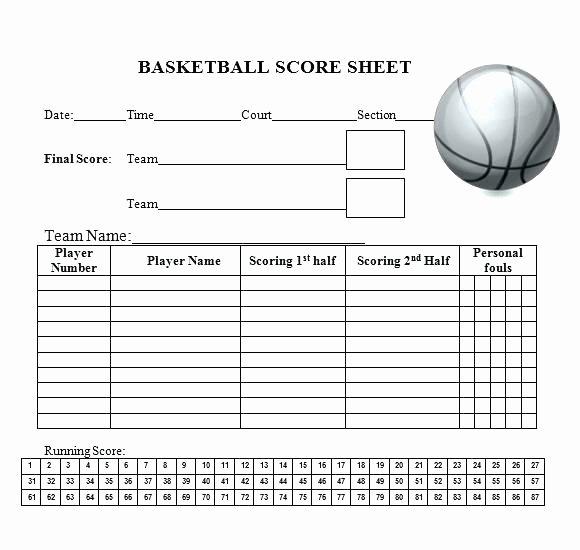 Basketball Score Sheet Template Unique 15 Printable Basketball Scoresheet