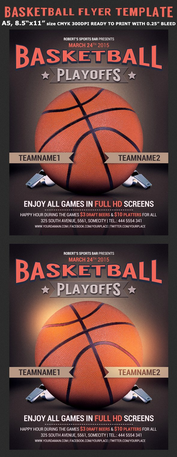 Basketball tournament Flyer Template Beautiful Basketball Flyer Template