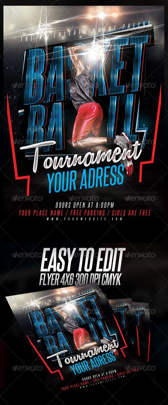 Basketball tournament Flyer Template Beautiful Basketball tournament Flyer Template