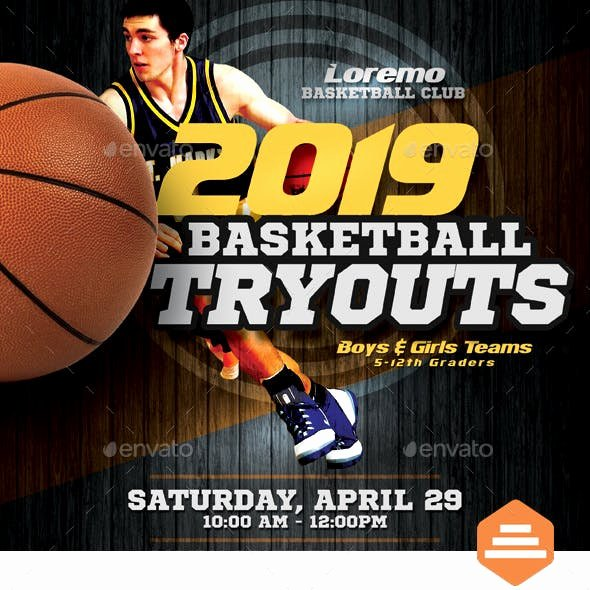 Basketball Tryout Flyer Template Awesome Basketball Camp Graphics Designs & Templates From