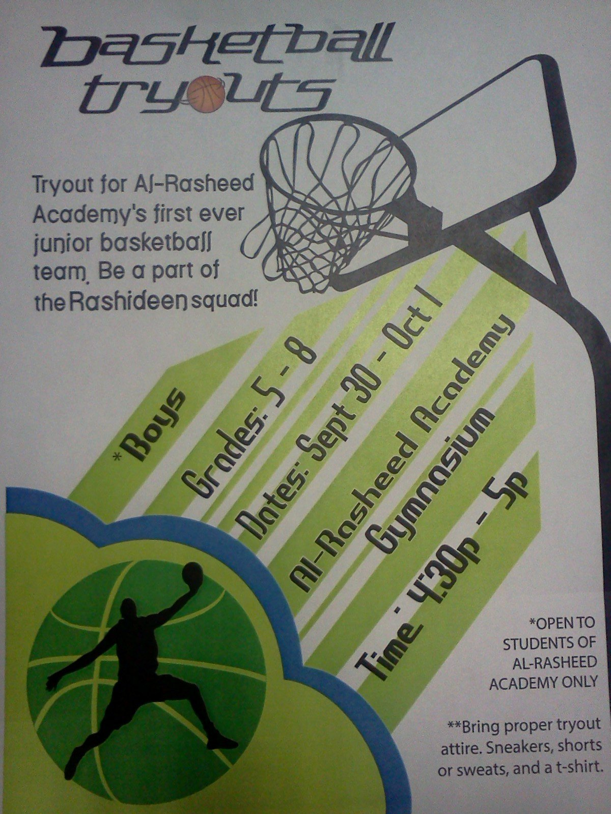 Basketball Tryout Flyer Template Beautiful October 2013 – Welove2learn