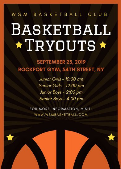 Basketball Tryout Flyer Template Best Of Camera Club Sign Up Flyer Templates by Canva