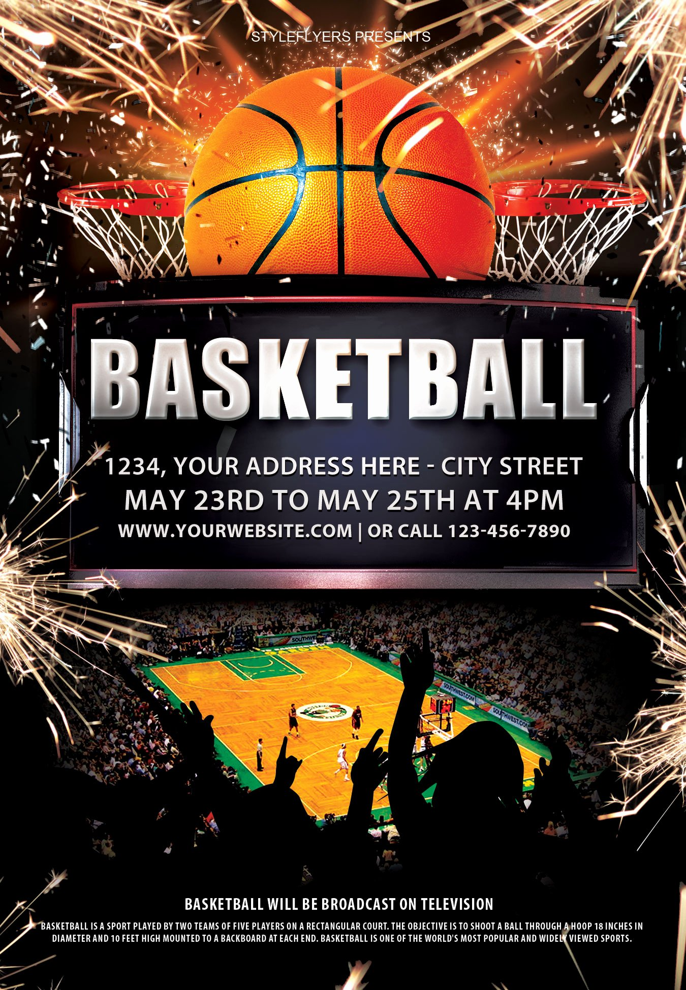Basketball Tryout Flyer Template Elegant Free New Years Eve Flyer Template Portablegasgrillweber