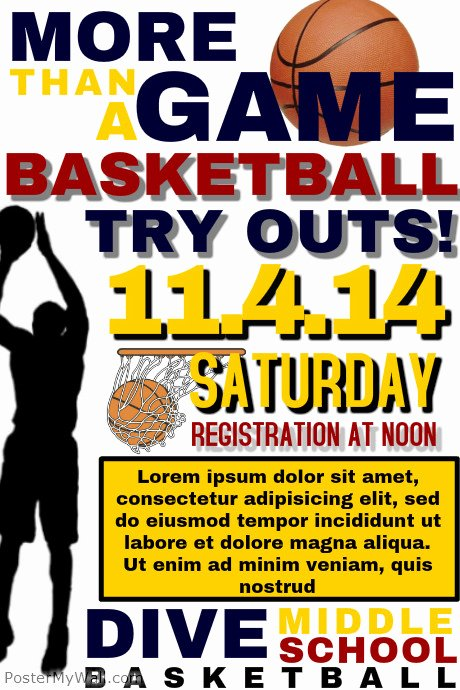Basketball Tryout Flyer Template Fresh Basketball Tryout Template