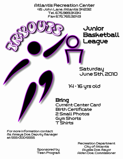 Basketball Tryout Flyer Template Inspirational Basketball Tryouts Flyer Template R View