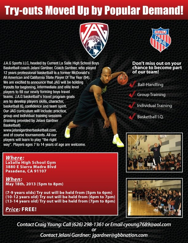 Basketball Tryout Flyer Template New J A G Basketball Program Tryouts – Pasadena Ca May 18 5