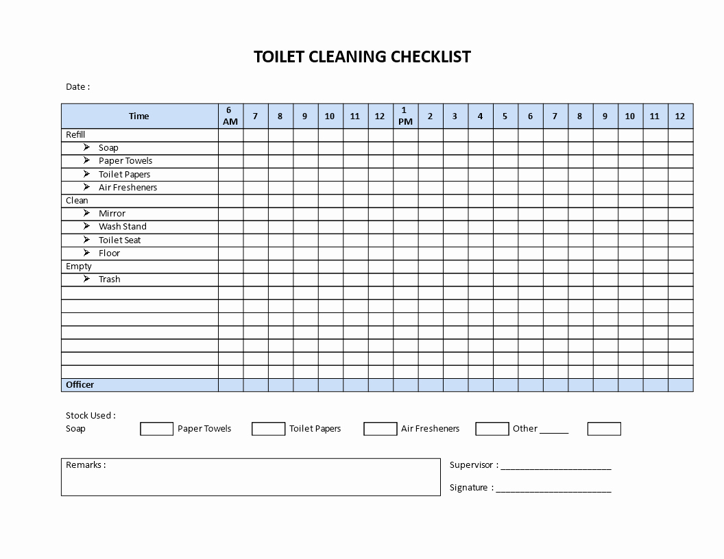 Bathroom Cleaning Checklist Template Fresh Free Restroom Cleaning Checklist Model