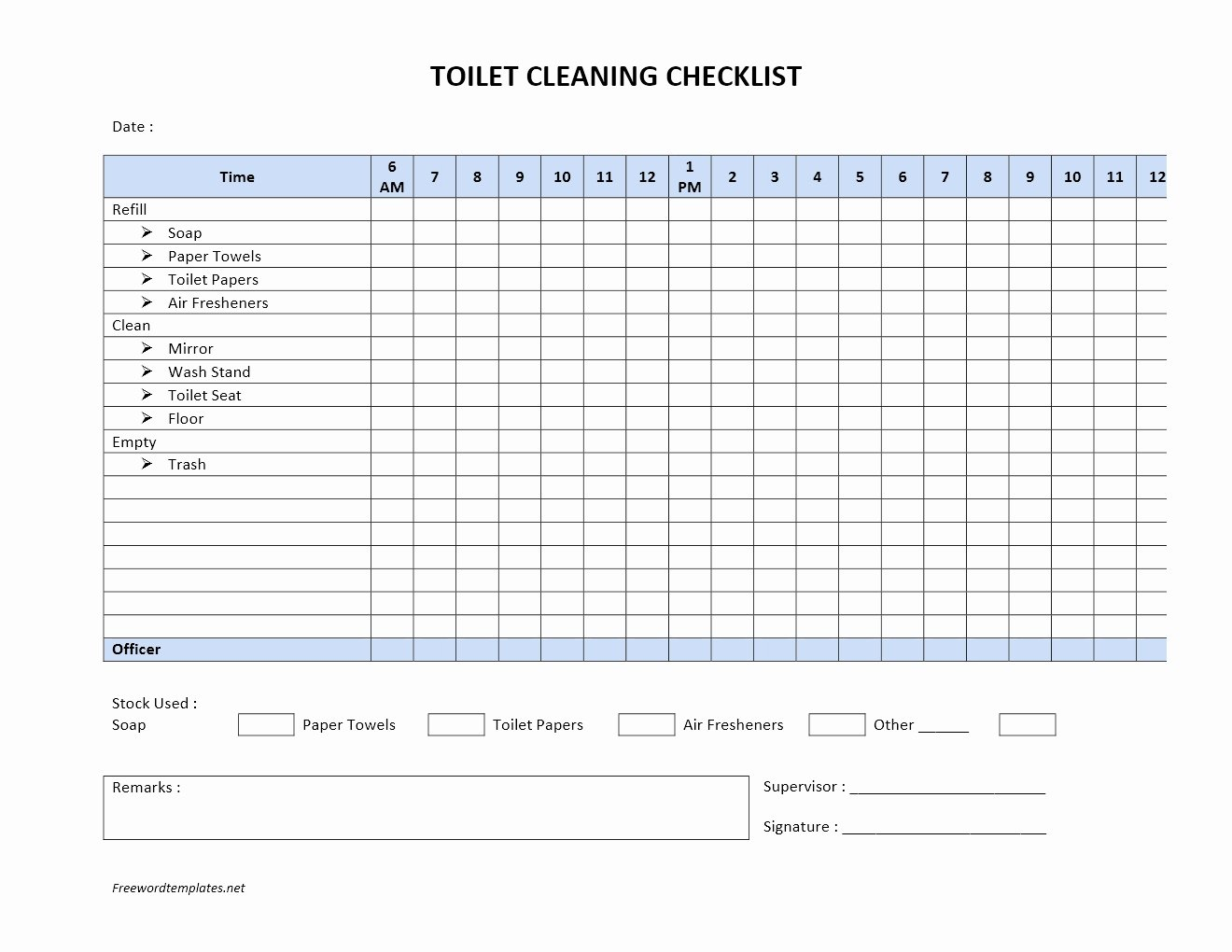 Bathroom Cleaning Checklist Template Lovely toilet Cleaning Checklist