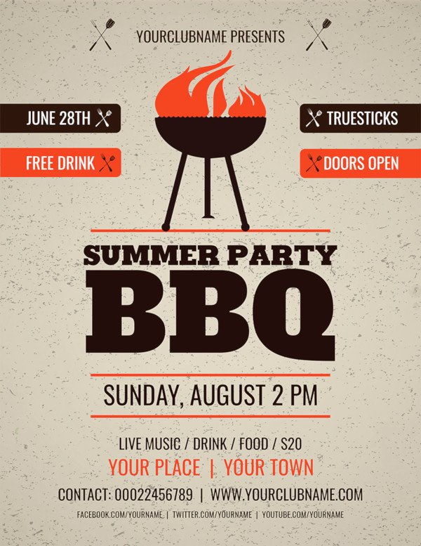 Bbq Flyer Template Free Awesome 47 Summer Party Flyer Templates Psd Ai Vector Eps
