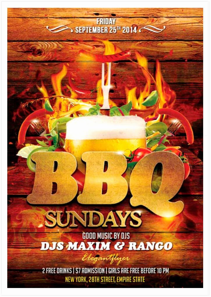 Bbq Flyer Template Free Beautiful 15 Free Barbecue Flyer Templates In Psd Vector Ai Tech
