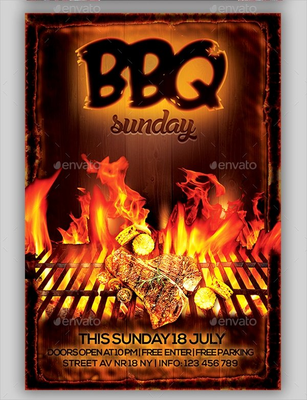 Bbq Flyer Template Free Beautiful 21 Bbq Flyer Templates
