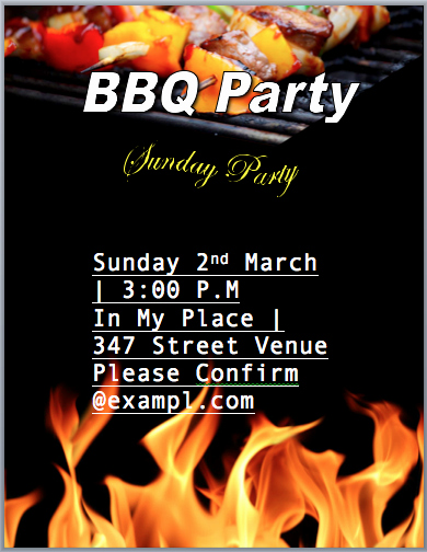 bbq invitation flyer templates office