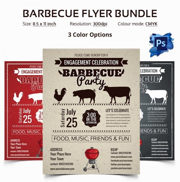 Bbq Flyer Template Free Best Of 28 Bbq Flyer Templates Free Word Pdf Psd Eps
