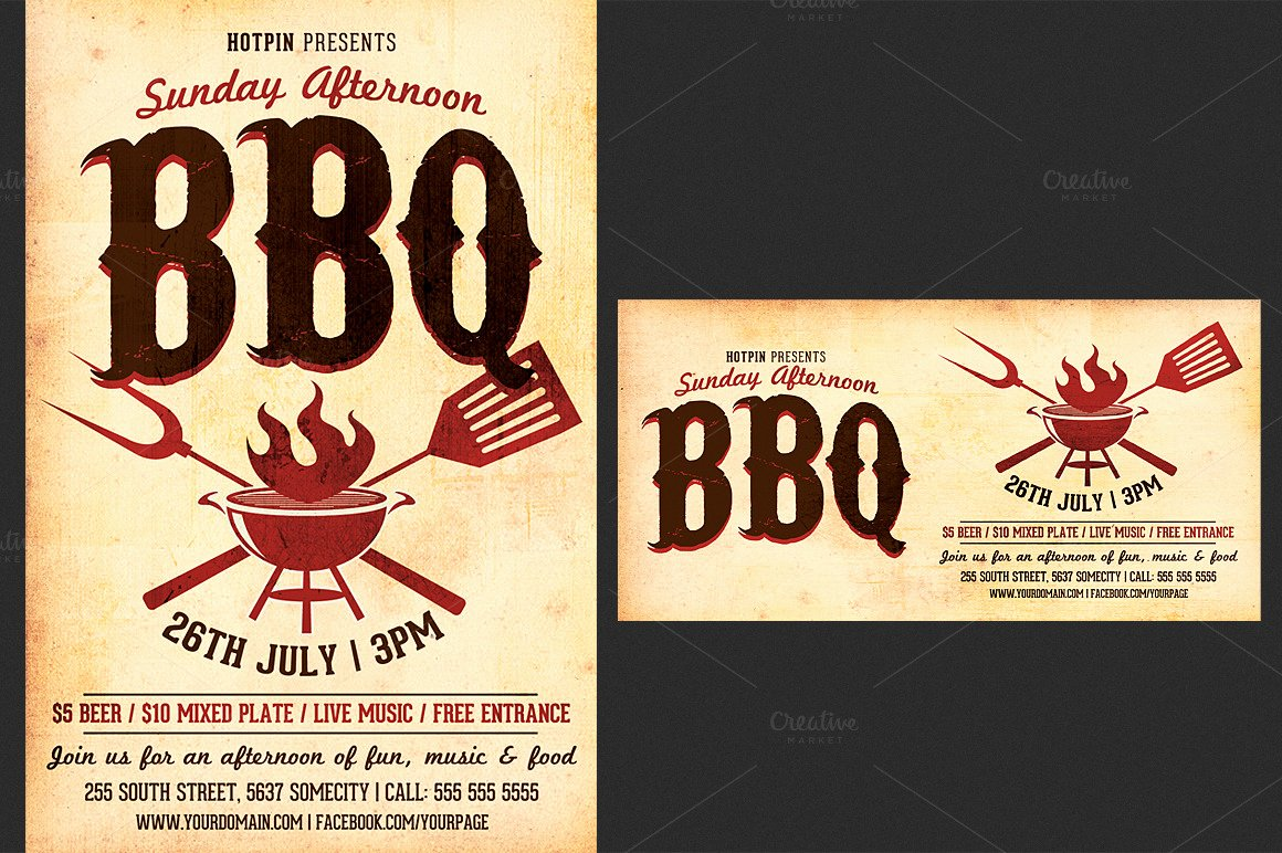 Bbq Flyer Template Free Best Of Barbecue Bbq Flyer Template Flyer Templates On Creative