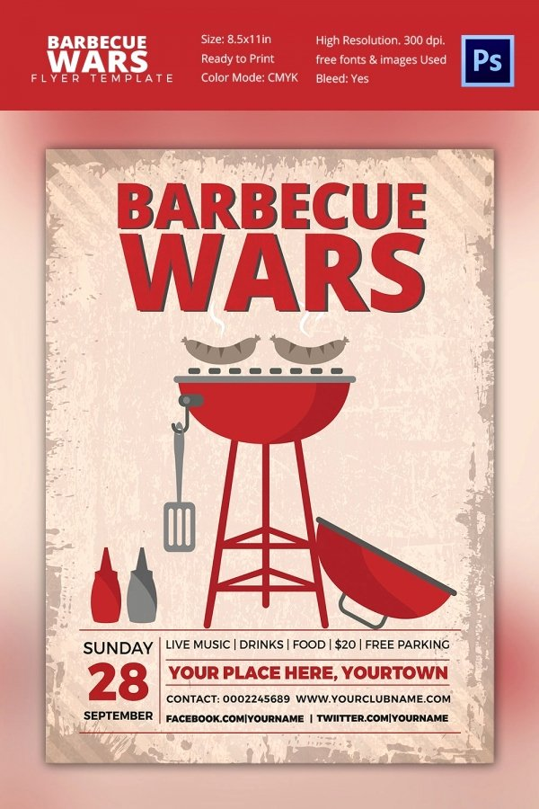 Bbq Flyer Template Free Fresh 25 Bbq Flyer Template Free Word Pdf Psd Eps