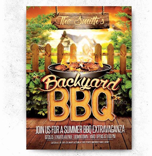 Bbq Flyer Template Free Inspirational 20 Free Psd Barbeque Flyer Templates for the Best events