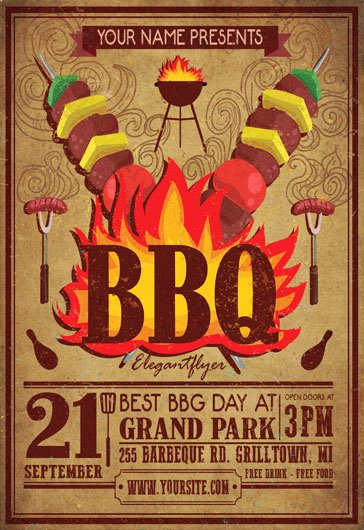 Bbq Flyer Template Free Inspirational Free Bbq Flyer Template Yourweek 1ff54ceca25e