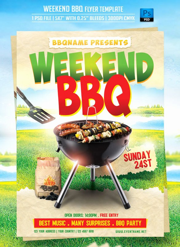 Bbq Flyer Template Free Lovely 20 Bbq Flyer Templates – Free Word Pdf Psd Eps
