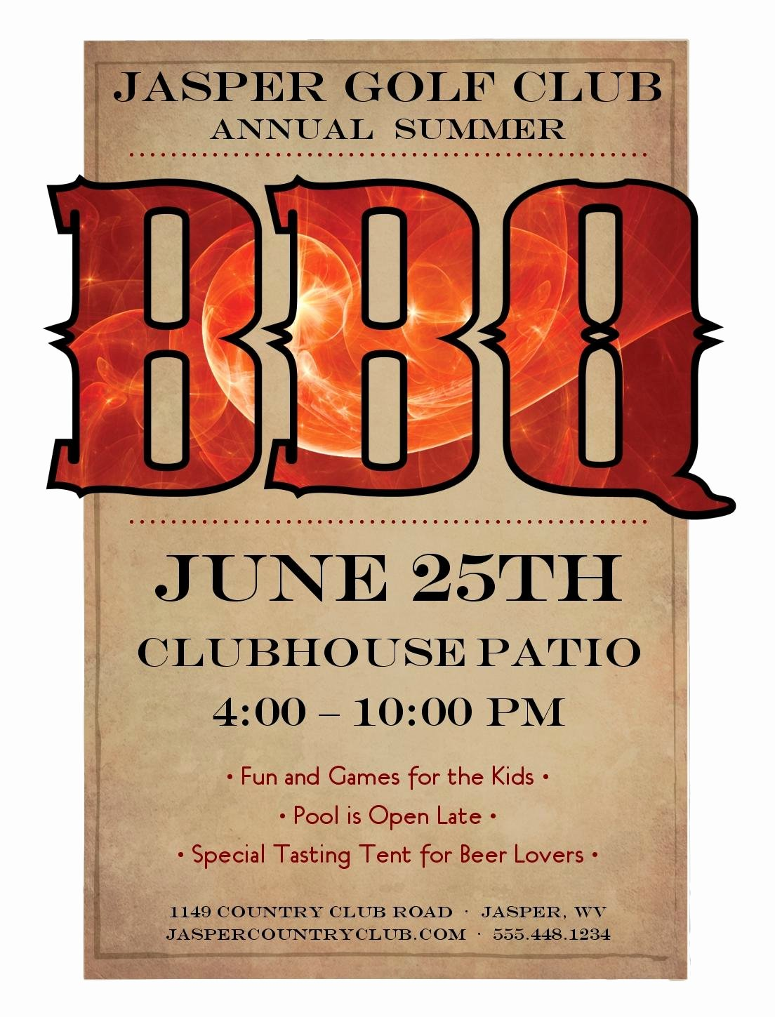 Bbq Flyer Template Free Lovely Cancel Save