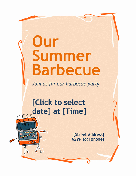 Bbq Flyer Template Free New 20 Free Barbeque Flyer Templates Demplates