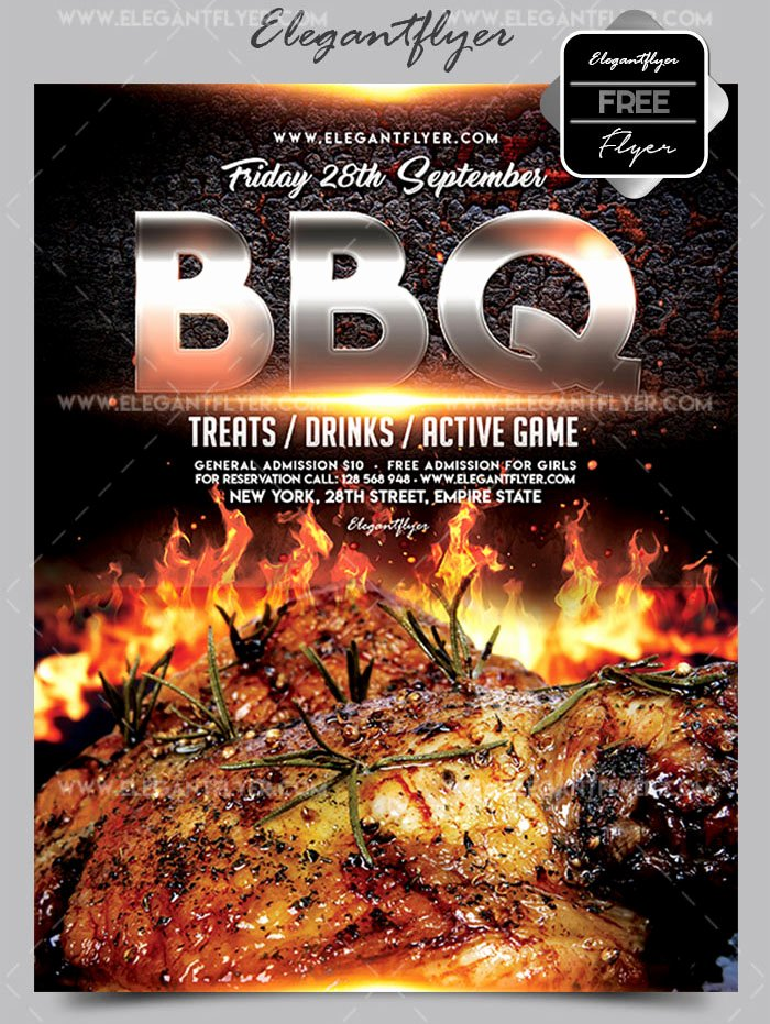 Bbq Flyer Template Free Unique 20 Free Psd Barbeque Flyer Templates for the Best events
