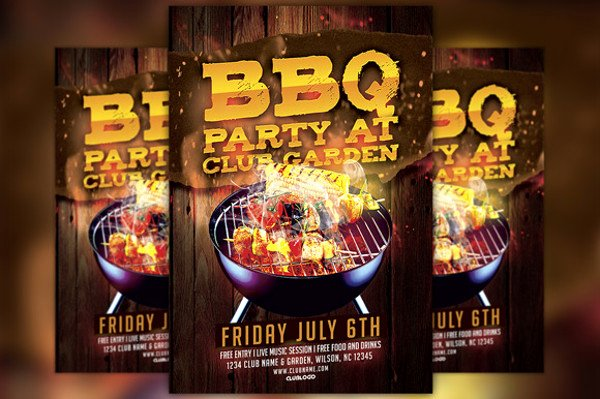 Bbq Flyer Template Free Unique 31 Bbq Flyer Templates Psd Vector Eps Jpg Download
