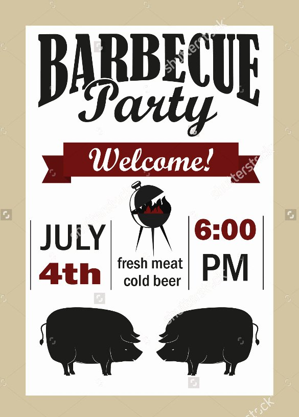 Bbq Invitation Template Word Awesome 30 Barbeque Invitation Templates Psd Word Ai