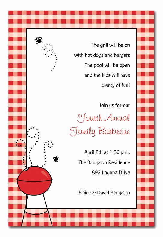 Bbq Invitation Template Word Awesome Barbecue Graduation Party Invitations Wording