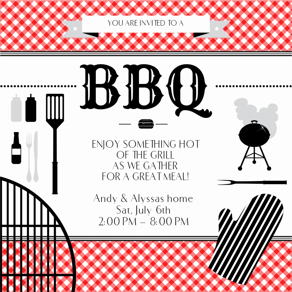 Bbq Invitation Template Word Awesome Bbq Essentials Free Bbq Party Invitation Template