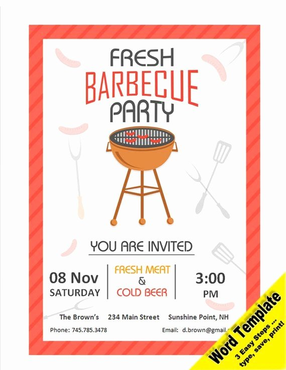 Bbq Invitation Template Word Fresh 34 Best Etsy Word and Pdf Templates Images On Pinterest