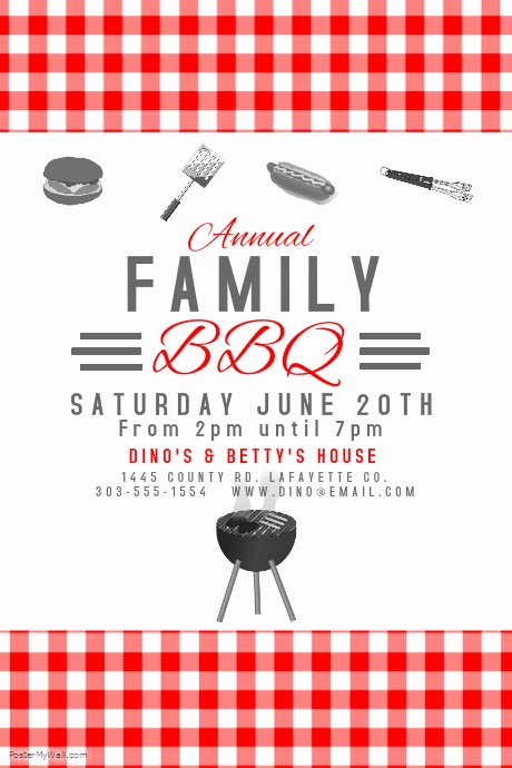 Bbq Invitation Template Word Lovely Postermywall