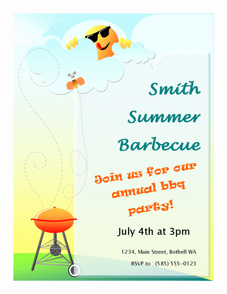 Bbq Invitation Template Word New 20 Free Barbeque Flyer Templates Demplates