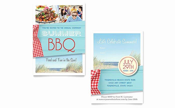 Bbq Invitation Template Word New Summer Bbq Invitation Template Word & Publisher