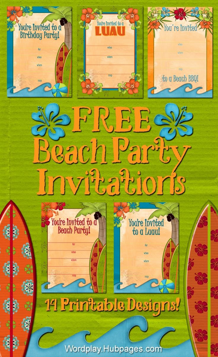 Beach Party Invitation Template Elegant 1000 Ideas About Luau Birthday Invitations On Pinterest
