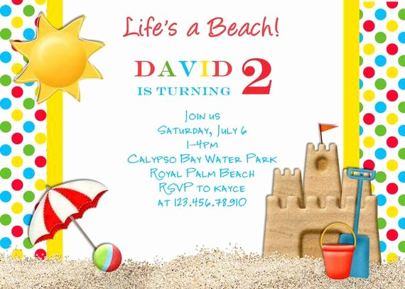 Beach Party Invitation Template Elegant Items Similar to Beach Party Birthday Invitation Pool
